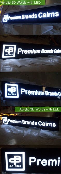 Personalised Outdoor Acrylic 3D Words with LED Lightbox by umark, $69.99