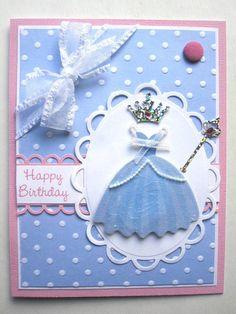 Handmade Princess Birthday card for young girl
