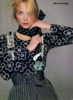 Rachel Williams, 1988 Vogue USA, March 1988 Photographed by Steven Meisel Makeup by Francois Nars Hair by Oribe