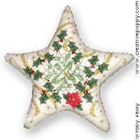 Christmas star ornament - designer is Faby Reilly