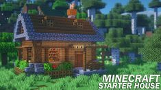 Minecraft: How to Build a Starter House Survival Starter House Tutorial YouTube in 2020 Minecraft starter house Minecraft Minecraft blueprints