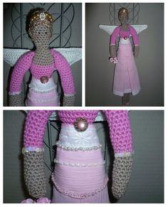 Chique Tilda with link to original crochet pattern