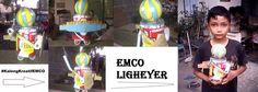 Kreasi kaleng kiriman Wahyu Nusantara  Robot Emco Ligheyer siap memberikan warna rumah anda #KalengKreatifEMCO