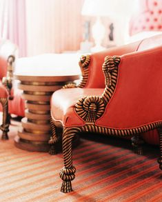 chairs with gold rope-like frames