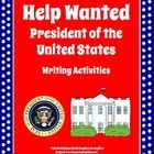 """Looking for a creative way to assess student knowledge of the roles and responsibilities of the President of the United States? This set of two writing activities requires students to demonstrate higher levels of thinking--understand, apply, and create--and utilize their imagination as they compose a """"Help Wanted"""" ad and/or write a cover letter for the job of President of the United States."""