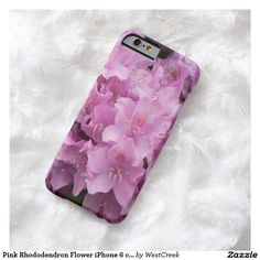 Pink Rhododendron Flower iPhone 6 case Use the customize button, to choose Samsung or Motorola !