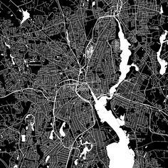 Providence, Rhode Island. Downtown vector map.  by #Hebstreit