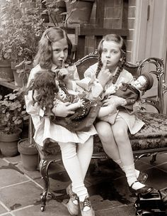 Girls with Dolls. 1920