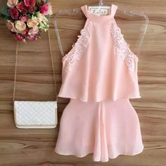Look Fashion, Girl Fashion, Fashion Outfits, Fasion, Peach Clothes, Co Ords Outfits, Cool Outfits, Summer Outfits, Barbie