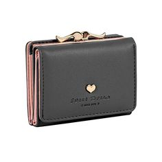 Damara Womens Metal Frame Kiss-lock Small Clutch Cards Holder Wallet, Black at Amazon Women's Clothing store: