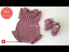 Free Baby Sweater Knitting Patterns, Baby Booties Knitting Pattern, Crochet Baby Sandals, Knit Baby Dress, Knit Baby Booties, Baby Hats Knitting, Crochet Baby Shoes, Knitting Designs, Crochet Baby Costumes