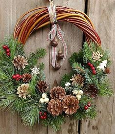 Christmas wreath rustical
