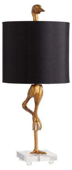 Ibis Table Lamp, Gold