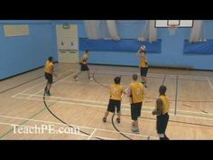Basketball Drill - Passing - Monkey In the Middle - YouTube