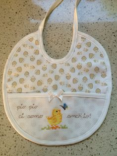 Baby Embroidery, Alpha Patterns, Baby Bibs, Bandana, Cross Stitch Patterns, Applique, Easy Cross Stitch, Baby Washcloth, Embroidered Towels
