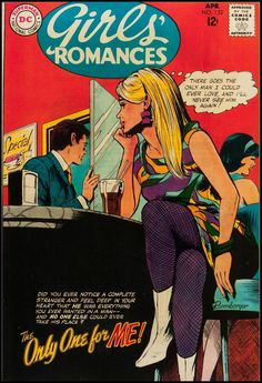 Girls' Romances #132, April 1968. Cover art by John Rosenberger.