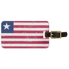 Liberia Flag Luggage Tag