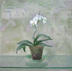 Orchid on the Green Plate by Szeto Lap