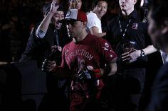 Frankie Edgar makes his entrance at UFC 144 on Feb. 25, 2012 in Saitama, Japan.