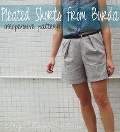 Pleated Short Pattern #Sewing #selfishsewingweek