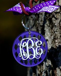 Acrylic Monogrammed Keychain, perfect gift for the #Clemson Girl!