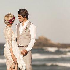 beach wedding - vest, no jacket