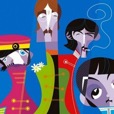 Pablo Lobato Caricatures | The Beatles by Pablo Lobato | Fantastic Caricatures