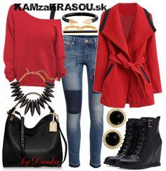 Žiarivý červený kabátik - KAMzaKRÁSOU.sk #kamzakrasou #sexi #love #jeans #clothes #coat #shoes #fashion #style #outfit #heels #bags #treasure #blouses #dress