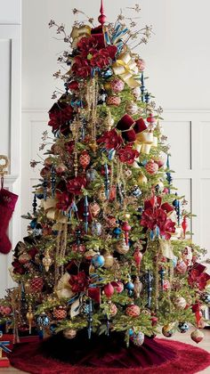 30 Fascinating Christmas Tree Ideas To Give Your Home A Festive Look - If you are looking for trendy innovative ways to decorate for Christmas, youve come to the right place. You could start the decorating off on the tre. Office Christmas Decorations, Christmas Tree Design, Christmas Hacks, Large Christmas Baubles, Colorful Christmas Tree, Christmas Tree Themes, Blue Christmas, Christmas Colors, Xmas Tree
