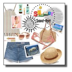 """""""SUMMER...GOOD-BYE"""" by onesweetthing ❤ liked on Polyvore featuring Miguelina, AG Adriano Goldschmied, Ralph Lauren, Chaps, Chinese Laundry, Lipsy, Tory Burch, Hawaiian Tropic and AERIN"""