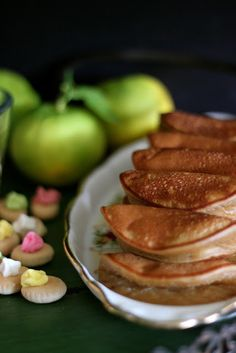Nyonya Apam Balik (Coconut Palm Sugar Pancakes) //  200 g palm sugar, 200 ml water, 4 pandan leaves, 300 g plain flour, 1 tsp baking powder, pinch of salt, 1 egg, 250ml thick coconut milk, 150ml water