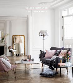 Color Inspiration: Dusty Pink & Grey (H&M Home)