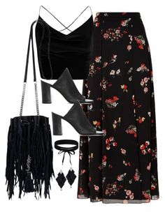 """Untitled #3221"" by theaverageauburn on Polyvore featuring RED Valentino, Boohoo, 1.State, Yves Saint Laurent and Roberto Demeglio"