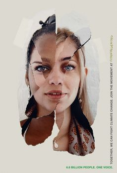 """6.8 Billion people. One Voice."" - Hopenhagen #collage"