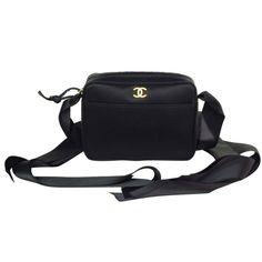 1stdibs | CHANEL Black Satin Shoulder Bag with Ribbon Strap and Bow