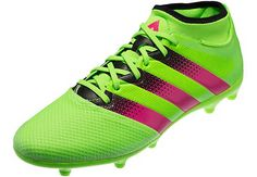 1c66723a7 adidas ACE 16.3 Primemesh FG AG Soccer Cleats - Solar Green   Shock Pink -  SoccerPro.com