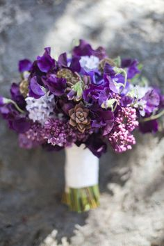 Pretty purple bouquet