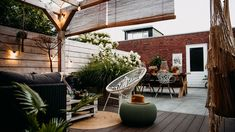 ogródek taras - Szukaj w Google Boho, Patio, Garden, Outdoor Decor, Home Decor, Google, Garten, Decoration Home, Room Decor