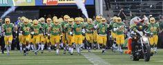 Oregon Duck leads the football team into Autzen Stadium.