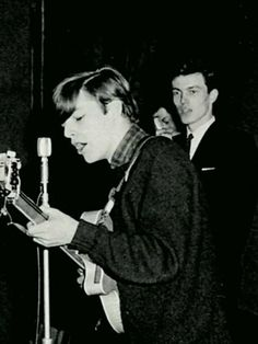 """more-relics: """"David Gilmour in mid 60′s performing with a pick-up band between films at the ABC Minors Club at the Victoria Cinema, Cambridge on a saturday morning,circa 1965. """""""