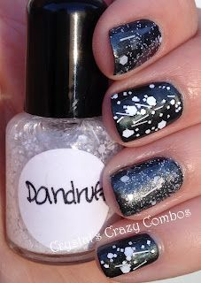 Crystal's Crazy Combos: Imperial Nail Lacquer - Dandruff vs. Lynnderella - Love, Lace, and Lilacs