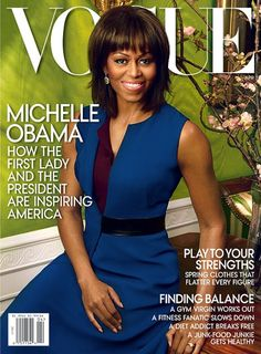 Photos via Vogue.com    As had been speculated , Mrs. O is on the cover of Vogue for Apri...