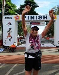 92 year old woman who runs marathons.