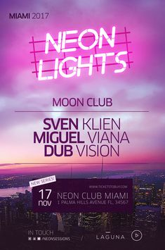 Neon City Club Flyer and Poster Template Event Poster Design, Event Posters, Graphic Design Posters, Graphic Design Inspiration, Flyer Design, Musikfestival Poster, Club Poster, Poster Layout, Party Poster