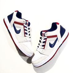 huge selection of 91e89 73387 Nike SB Air Force II Low in White, Blue   Red - EU Kicks  Sneaker Magazine