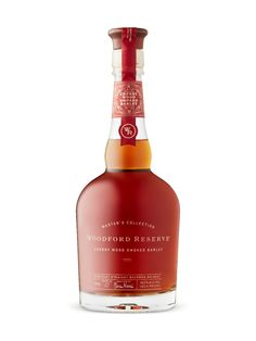 Woodford Reserve MC Cherry Wood Smoked Barley from LCBO Woodford Reserve Bourbon, Bourbon Whiskey, Whisky, Alcohol Bottles, Liquor, Alcoholic Drinks, Cherry, Packaging, Color Art