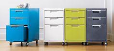 Multicolored Cabinets via PVE Design Organized Chaos: 10 Cool File Cabinets