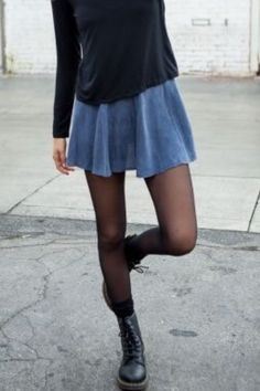 black tights with skirts/dresses and boots