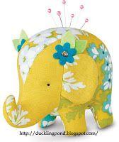 Elephant. Increase pattern size to make a plushy