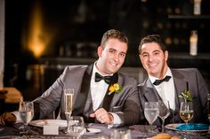 GROOM STYLE! #2grooms #gaywedding #NObride Grey Tuxedo / black bow ties from @thetiebar #philadelphia #equalywed
